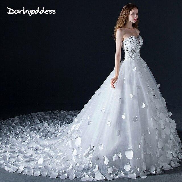 Princesa vestidos de novia de diamante Bling Crystal corsé sin ...