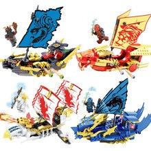 Ninjagoes Dragon Boat Knight Building Blocks Mini Action Figures Ninjaed Bricks Enlighten Toys for Kids Compatible Legoed Block