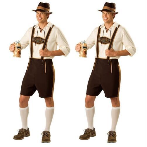 Blanc homme bavarois Oktoberfest//Causal Lederhosen Chaussettes Paires