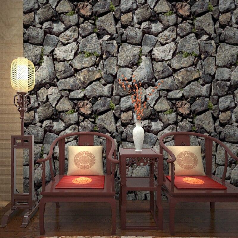 Beibehang papier peint de parede épaississement imitation roche mur de pierre chinois salon restaurant TV fond d'écran