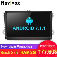 Navivox 9inch 2 Din RAM2G Car Multimedia Player Withndroid7 1 Car Video Player For VW T5