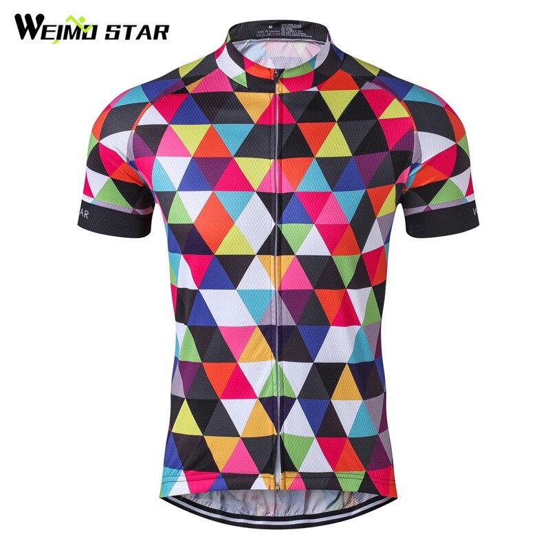 Weimostar Ciclismo Jersey Camisas Dos Homens do Esporte De Corrida de Bicicleta de Ciclismo MTB Bicicleta Jersey Ciclismo Desgaste Roupas Ciclsimo Roupas de Verão