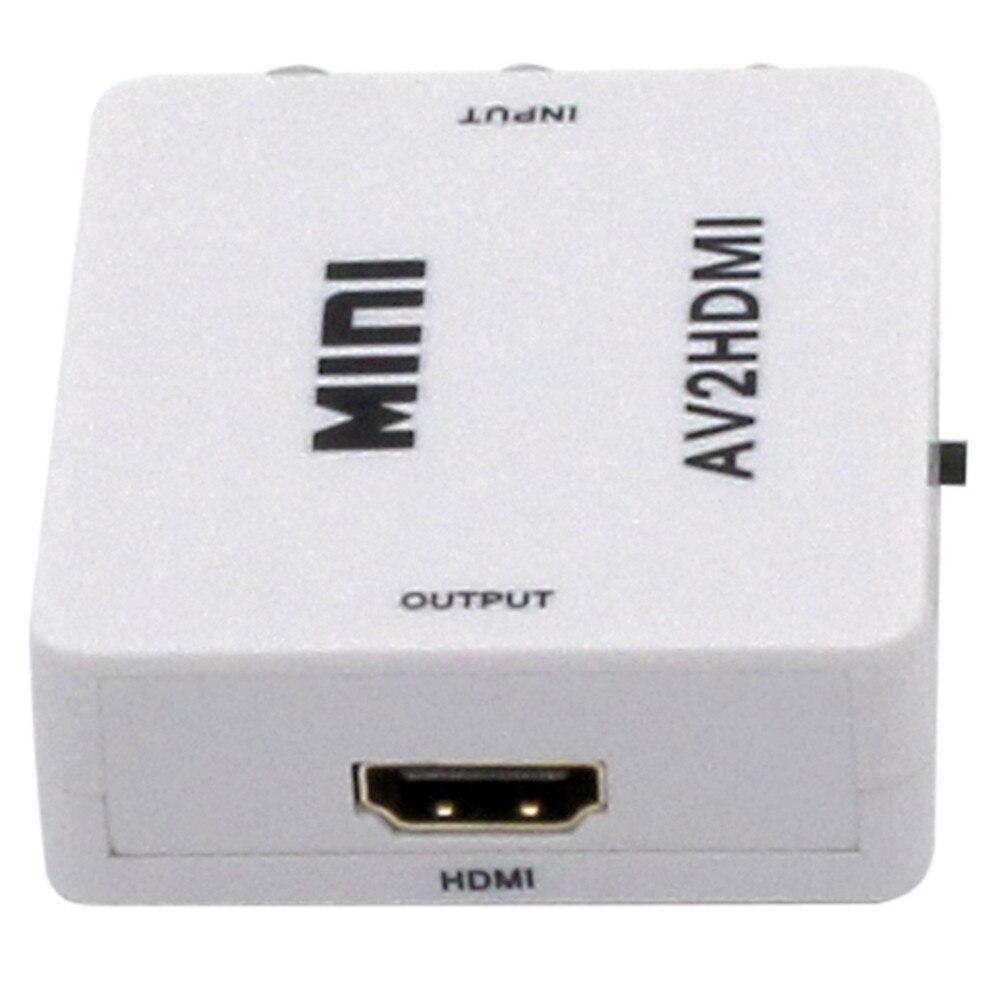 Wholesale Mini Portable RCA AV to HDMI Converter Adapter Mini Composite CVBS to HDMI AV2HDMI Connector Supports 1080P