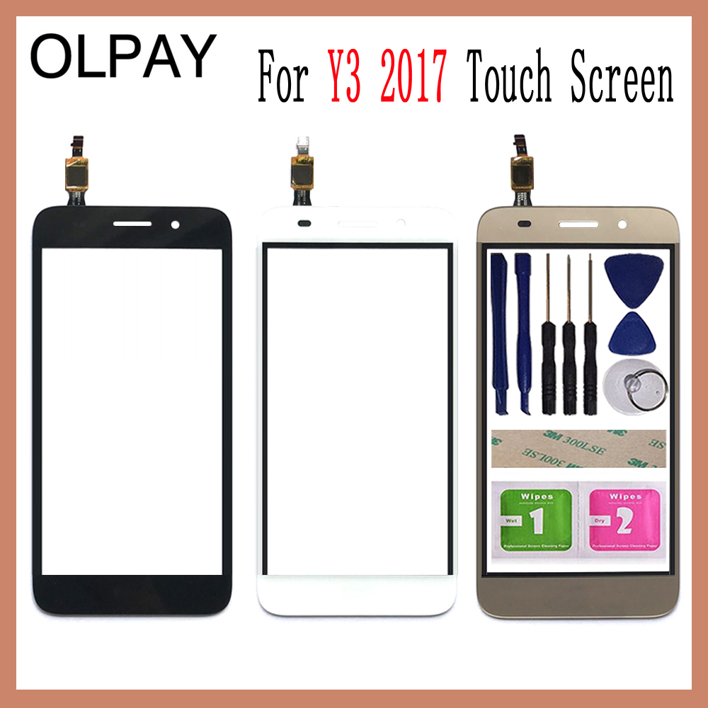 OLPAY 5.0 Touch Glass Panel For Huawei Y3 2017 CRO-U00 CRO-L02 CRO-L22 Touch Screen Digitizer Glass Sensor ToolsOLPAY 5.0 Touch Glass Panel For Huawei Y3 2017 CRO-U00 CRO-L02 CRO-L22 Touch Screen Digitizer Glass Sensor Tools