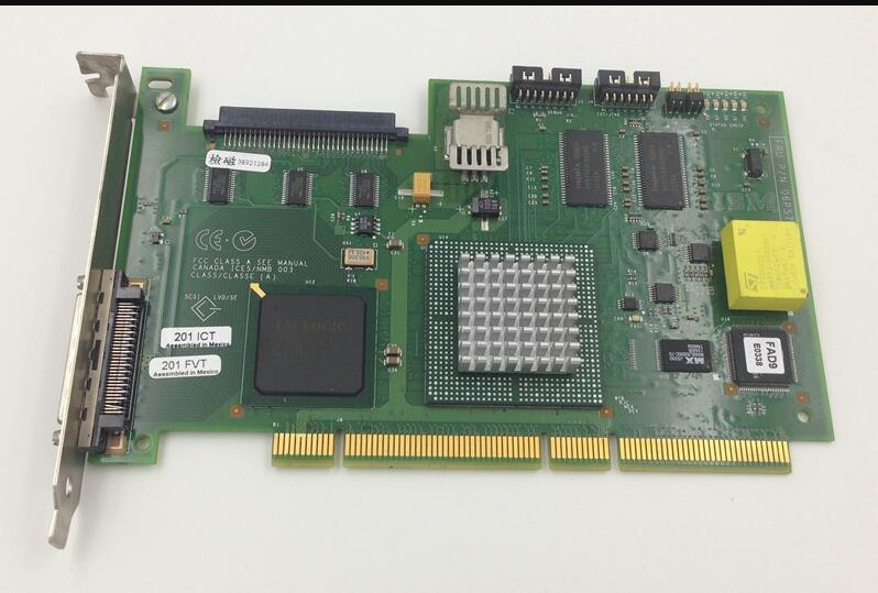 все цены на  free ship ,4LX 24P2591 06P5741 64BIT PCI U160 SCSI RAID Controller card,Raid Card  for Server  онлайн