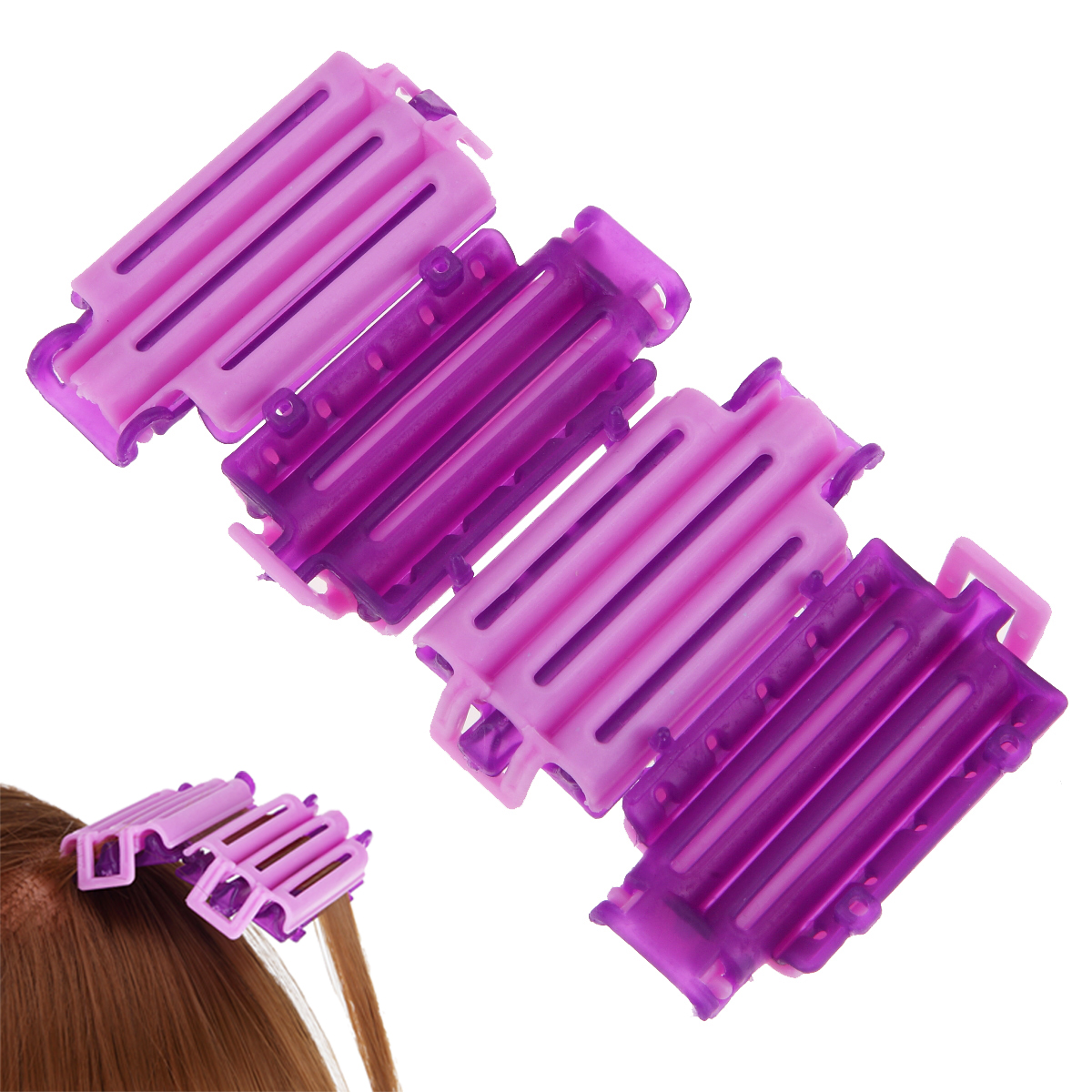 45pcs set Creative Magic Hair Clips Clamps Perm Rod Curlers Rollers Wavy Hair Maker Curling Spiral