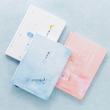 1Pcs Creative Pages Notebook Little Blue Diary Book Hardcover diary Korea Stationery for school office & school supplies creative literary notebook stationery nostalgic youth diary book hardcover horizontal line paper planner dd1352