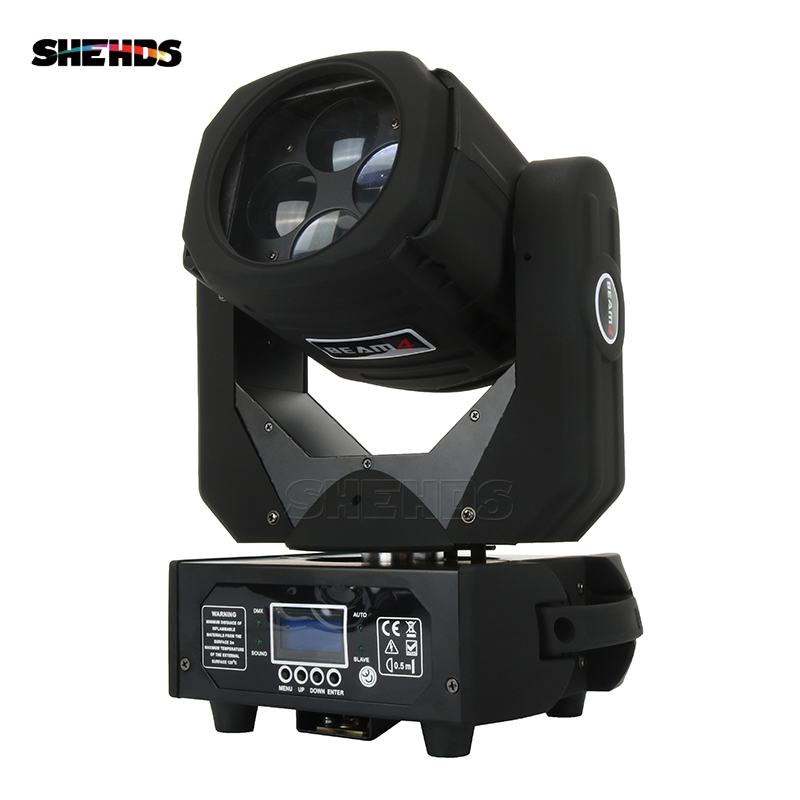 SHEHDS Light Design LED Super Beam 4x25W Professional Stage Perfect Lighting Effect Good For Stage DJ And Home Party