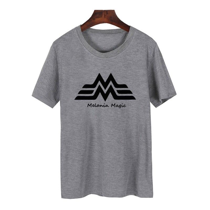 Меланина Magic футболка Для женщин Hipster короткий рукав Wonder Woman футболка Для женщин летние с круглым вырезом Футболка Femme
