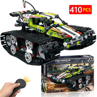 Remote Control Motor Bricks Tracked Racer Car Compatible LegoINGLY Technic RC Power Function Building Blocks Toys For Children
