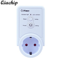 QIACHIP GSM Power Outlet EU Plug Socket Temperature Sensor Intelligent Temperature Control Russian SMS Command Control