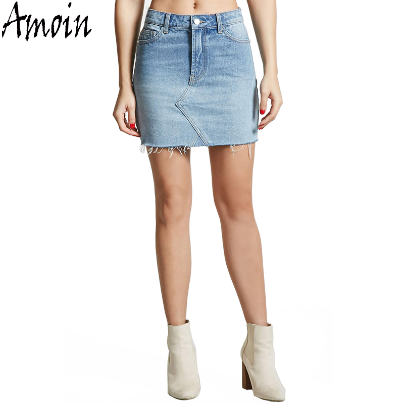 Aliexpress.com : Buy Amoin Women Fashion High Waist Mini Denim ...