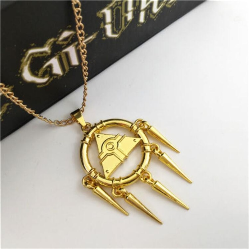 Novelty & Special Use Duel Monsters Millennium Puzzle Ring Badge Necklace Pendant 8pcs Set+box Drop Ship Props Yu-gi-oh Costume Props