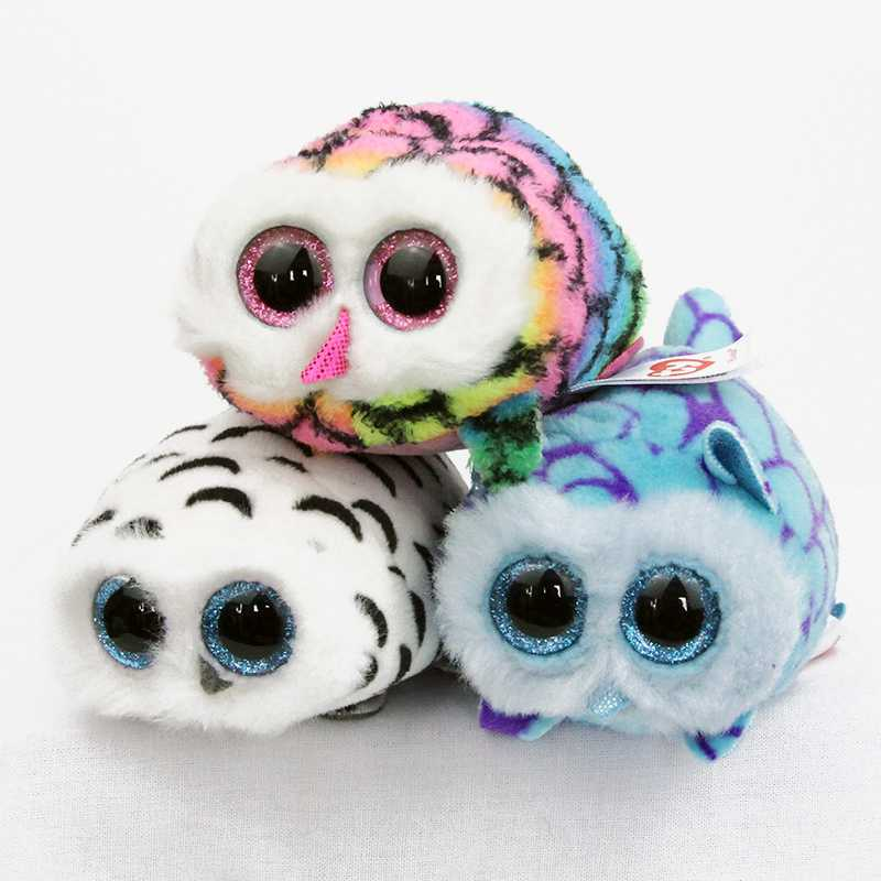 2017 NEW Cute Baby Soft Owls Plush Christmas Girl gift 10cm Ty Beanie Boos Big Eyes Plush Animal Toys Phone screen protector rub new beanie boos scoop white snowman plush animals 6 15cm ty big eyes stuffed animal cute soft toys for children kids gifts
