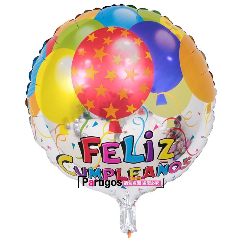 Image 4 - 100pcs Wholesale 18 inch Spanish Happy Birthday Foil Balloons Mix  Style Birthday Party Decoration Helium Inflatable Balao GlobosBallons