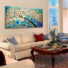 Oil painting On Canvas Palette Knife Impasto Wall Pictures Painting Home Decor Living Room Canvas Art Hand Painted Flower Tree