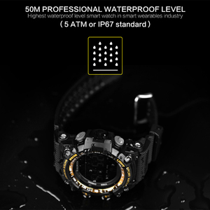 Image 3 - 時間所有者 Bluetooth 時計 EX16 スマート腕時計通知リモコン歩数計スポーツウォッチ IP67 防水男性の腕時計