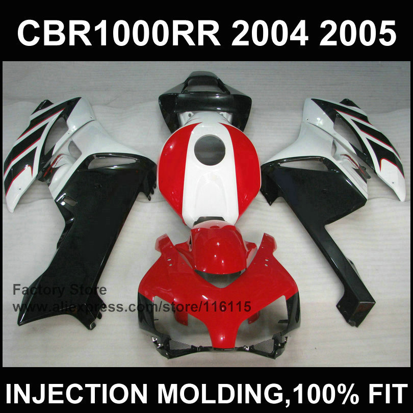 Red black 100% Injection mold fairing kits for   CBR 1000RR fairings 2004 2005  cbr1000rr 04 05 body parts aftermarket injection mold custom design givi fairing body kit for 04 05 cbr1000rr cbr 1000 rr 2004 2005