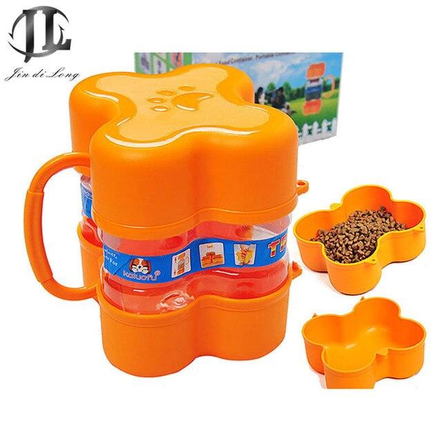 Outdoor Travel Portable Dog Food Storage Bucket Seal Storage Container Bowl  Dog Food Container Cat Food