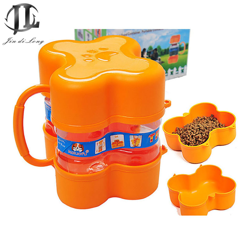 Outdoor Travel Portable Dog Food Storage Bucket Seal Storage Container Bowl Dog Food Container Cat Food Carrier Health Edible