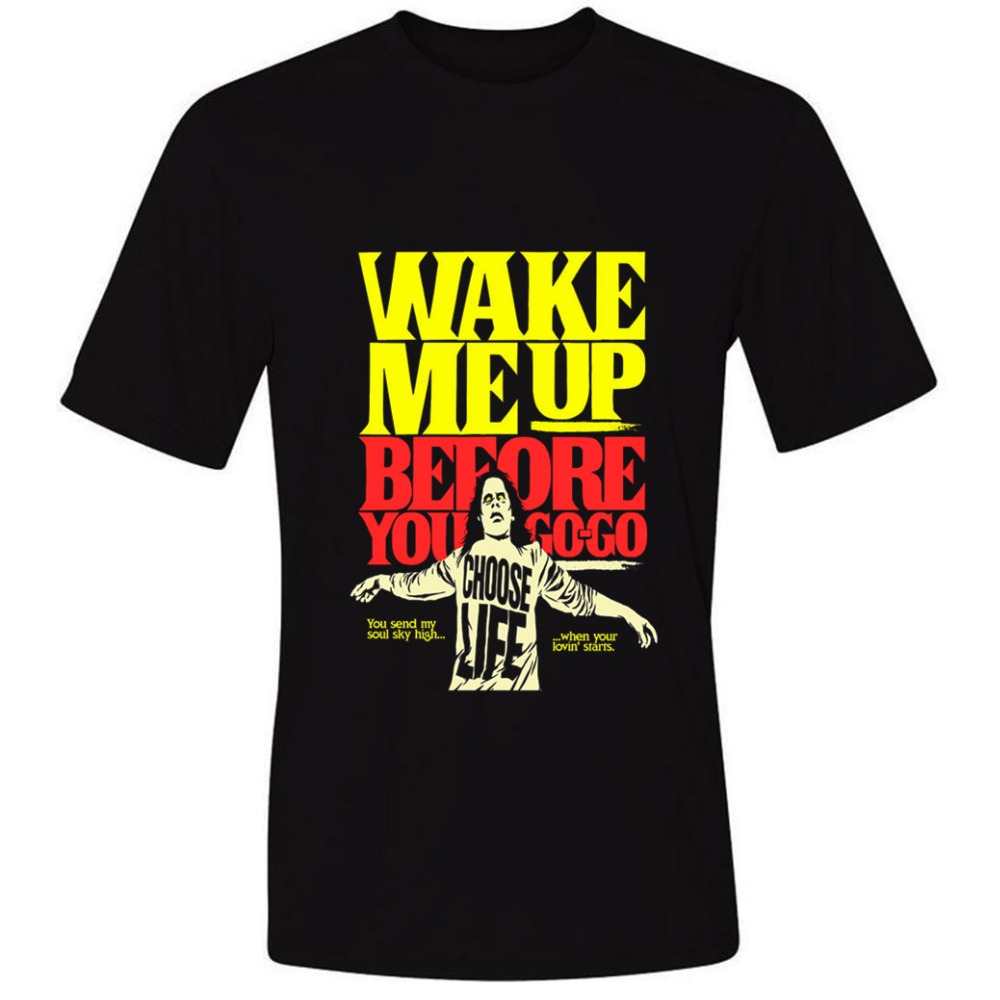 Wake Me Up before you go 2018 t shirt o-neck Mens O-Neck casual short Sleeve ...