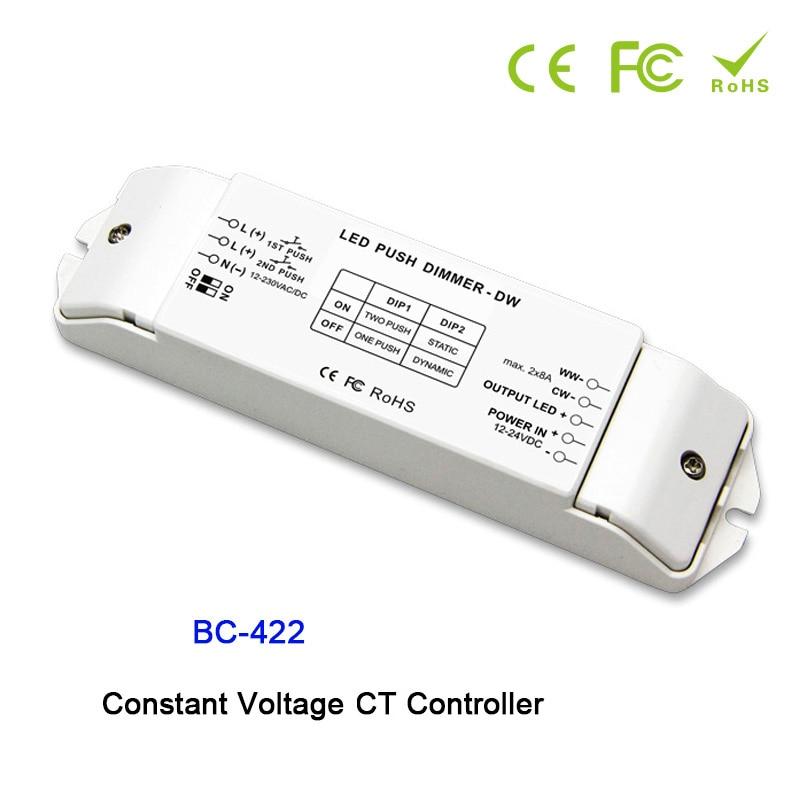 Bc-422 Pwm Cv Farbe Temperatur Controller Dip Schalter Und Duplex Push Dim Taste Dc12v-24v Eingang; 8a Beleuchtung Zubehör 2ch Ausgang Für Led Streifen