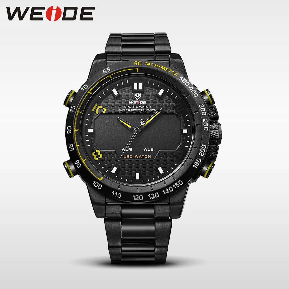 WEIDE genuine watches mens  brand luxury sport led digital  waterproof quartz watch analog army alarm clock  wrist watch casual weide casual genuine luxury brand quartz sport relogio digital masculino watch stainless steel analog men automatic alarm clock