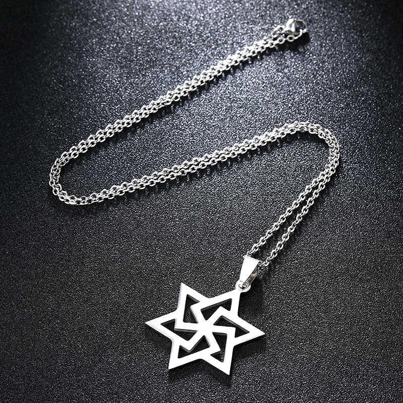 Nouveau collier pendentif étoile de David à la mode pour hommes/femmes en acier inoxydable juif david Hexagram israël bijoux cadeau