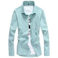 2016 Men S Casual Shirt Slim Fit Solid Shirts Spring Summer Camisas Long Sleeve Camisa Masculina