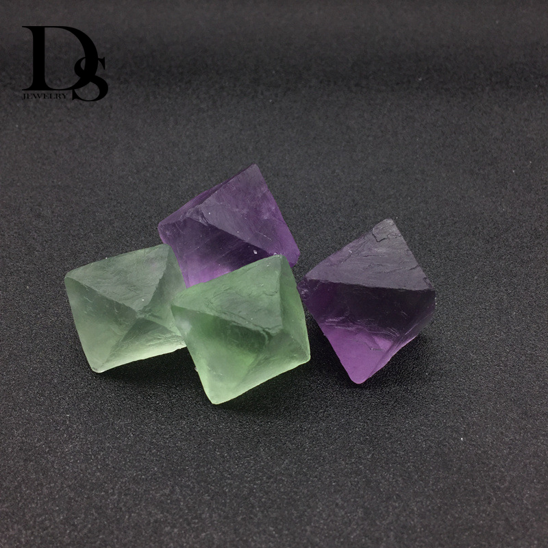 5x Natural Purple Fluorite Quartz Crystal Stone Rough Polished Gravel Specime DS