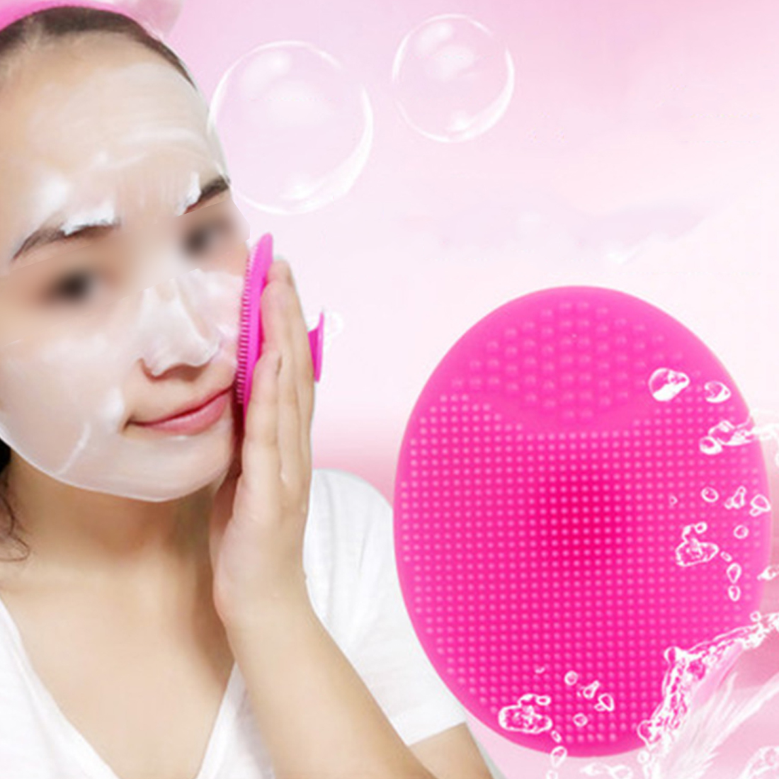 Hot Sale 1 PC Silicone Gel Egg Shaped Washing Face Cleaning Pad Facial Exfoliating Brush SPA Skin Scrub Bath Tool Random Color