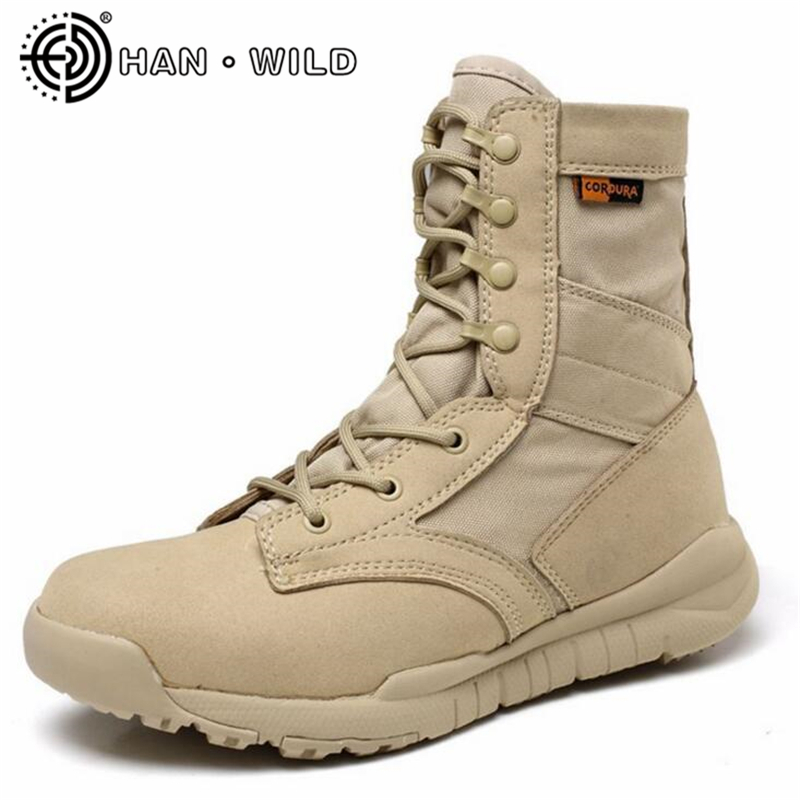 Breathable Summer Army Boots Ultralight Men Military Shoes Combat Tactical Ankle Boots Men Desert/Jungle Boots Outdoor Shoes