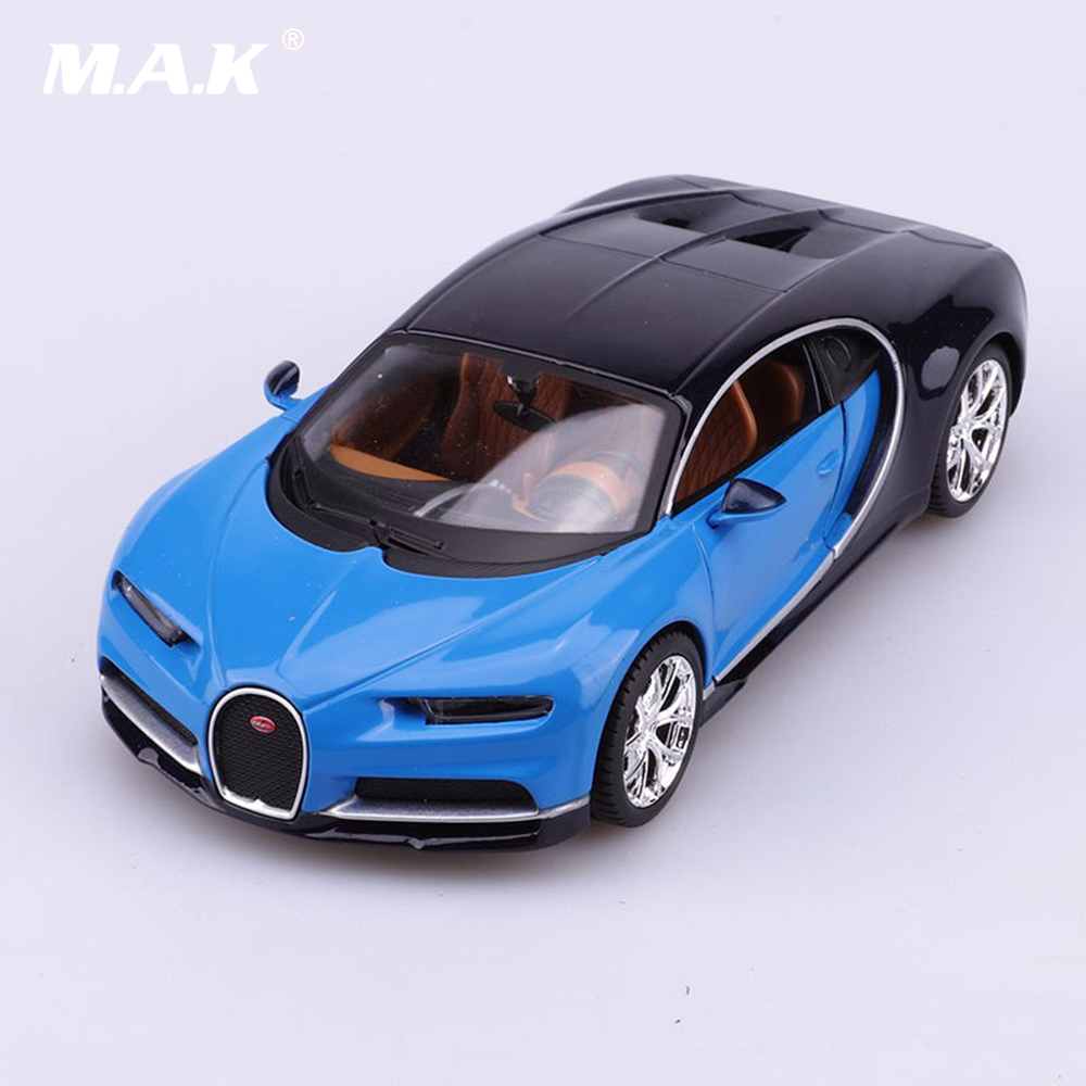 Toy Model Gallery : Bugatti chiron car model toys scale blue diecast