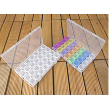 28 Slots diamond painting Box Accessories Clear plastic Beads Display Storage Boxes diamond Embroidery tools Accessory(China)