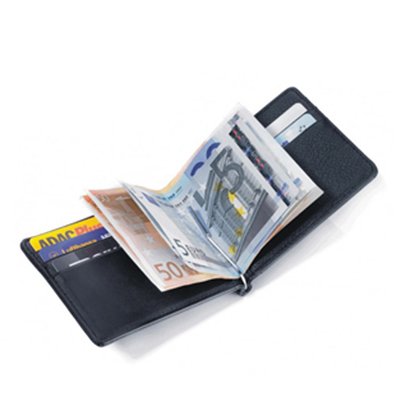 Gibo Auja - Brand Ægte Læder Herre Tegnebøger Med Money Clip Money Organizer Clutch Wallet Card Case