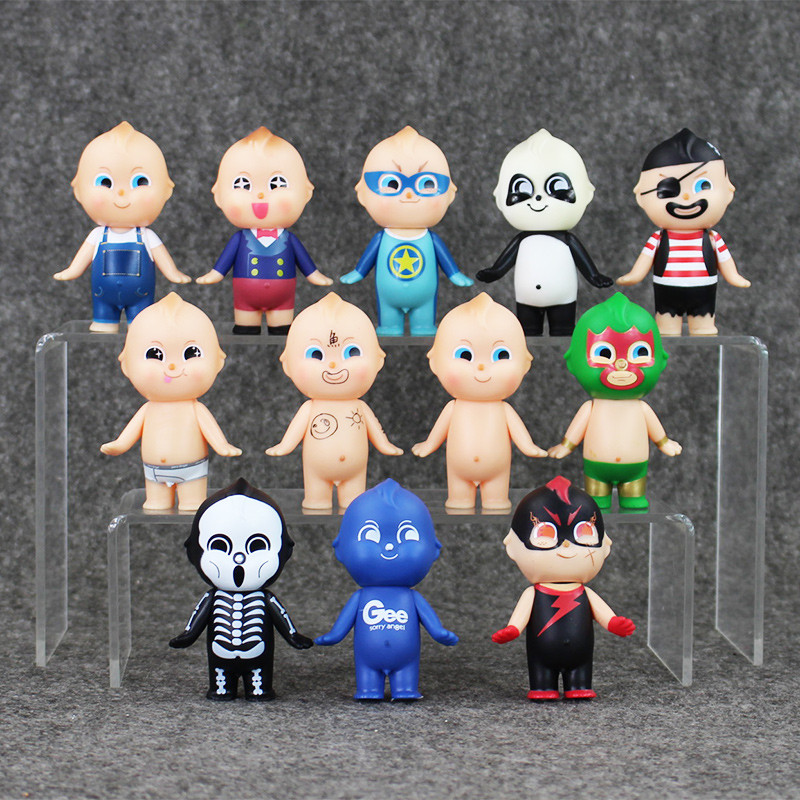 New arrival 12pcs/lot <font><b>Kewpie</b></font> <font><b>Doll</b></font> <font><b>Sonny</b></font> <font><b>Angel</b></font> Original <font><b>Baby</b></font> <font><b>Doll</b></font> <font><b>Set</b></font> Toy Gee <font><b>Sonny</b></font> <font><b>Angel</b></font> Hero Cosplay Series PVC Figures Toy