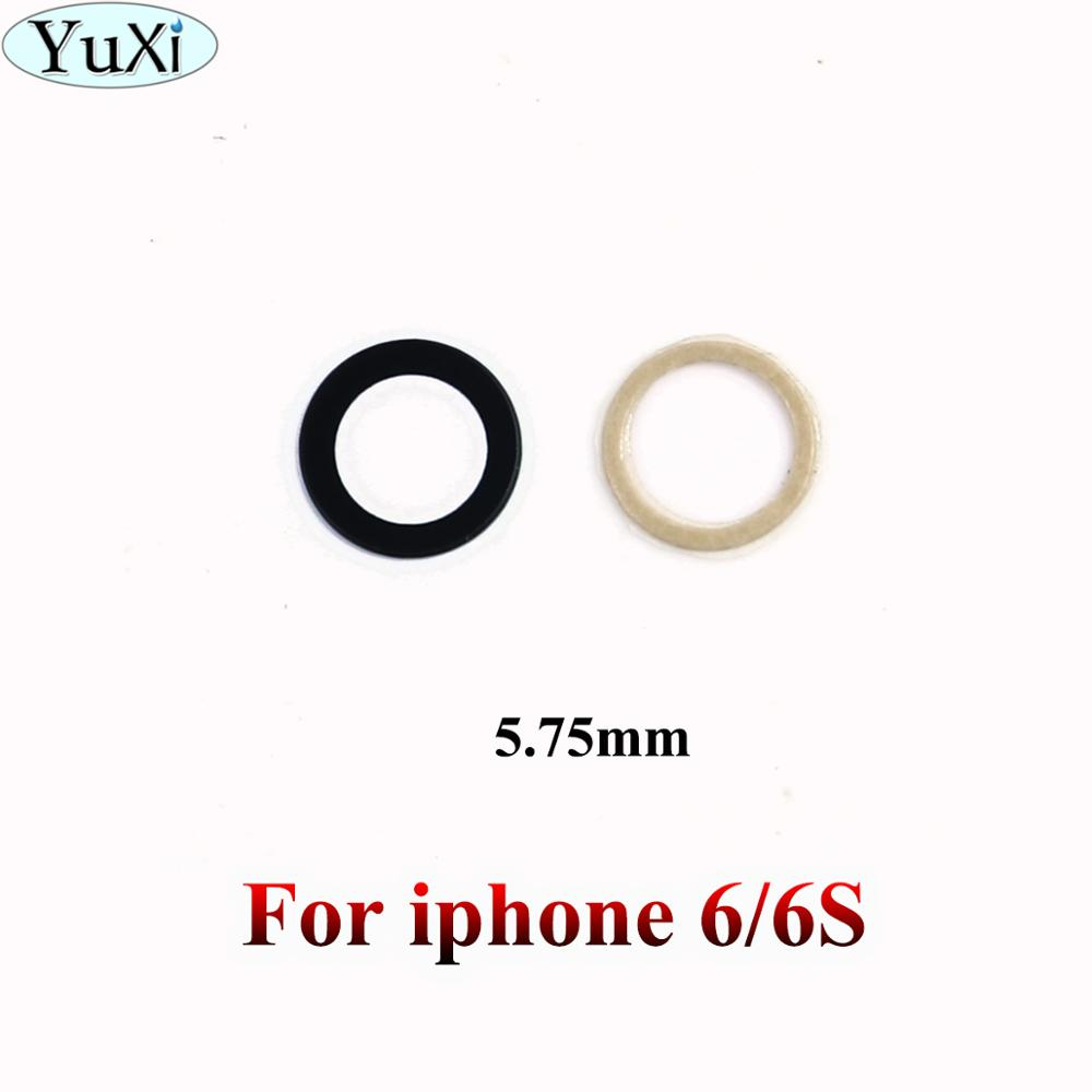 YuXi For Iphone 6 Phone Rear Camera Lens Glass Cover With Adhesive Sticker For IPhone 6S 4.7Inch Black