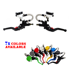 Universal Motorcycle 7 8 Clutch Brake Levers Master Cylinder Oil Fluid Reservoir Motocross Enduro Supermoto Dirt