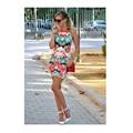 Печатных Цветочные Сексуальная Тонкий Вскользь Платья Женщин 2016 Летний Новый Мод O-образным Вырезом Новый Платья Летние Платья Бальные Платья