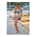 Printed Floral Sexy Slim Casual Women Dress 2016 Summer New Fashion O-Neck Novelty Dresses Summer Dress Party Dresses