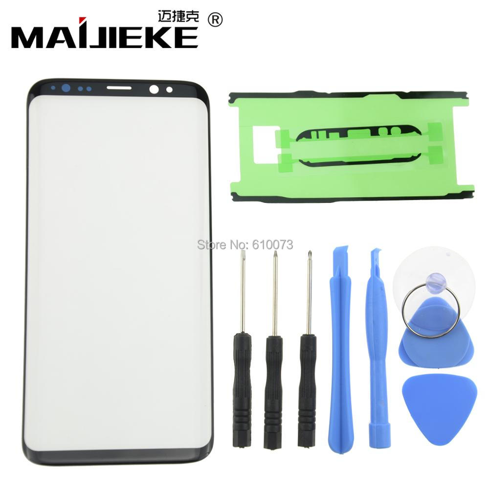 Front Outer Screen <font><b>Glass</b></font> Lens <font><b>Replacement</b></font> For <font><b>Samsung</b></font> <font><b>Galaxy</b></font> S10 Plus S10E S9 <font><b>S8</b></font> Plus Note 8 9 Screen LCD <font><b>Glass</b></font>+Sticker+Tools image