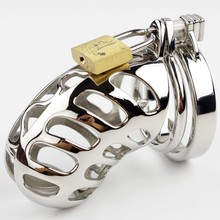 Stainless steel Male Chastity Device metal Penis Locking devices Adult sex products