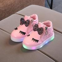 E CN luminous dziewczyny buty led buty dla dzieci dziewczyny buty dziecięce buty lekkie tenis dziewczęce buty gumowe zimowe buty dla dzieci w Trampki od Matka i dzieci na