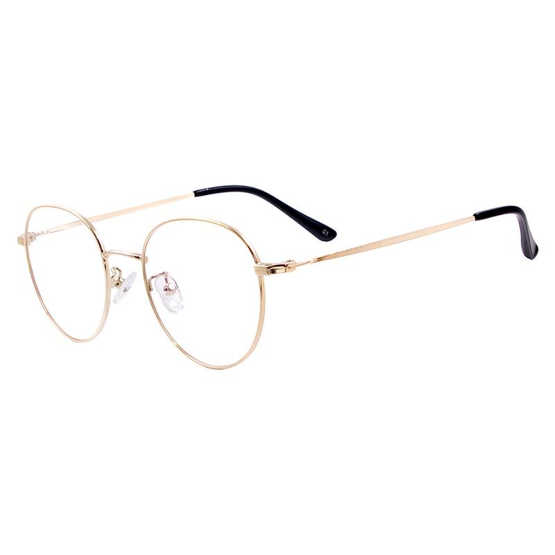 Image 4 - Men and Women Metal Small Vintage Prescription Eyewear Frame Black Round Glasses For Multifocal Myopia Reading Lenses-in Men's Eyewear Frames from Apparel Accessories