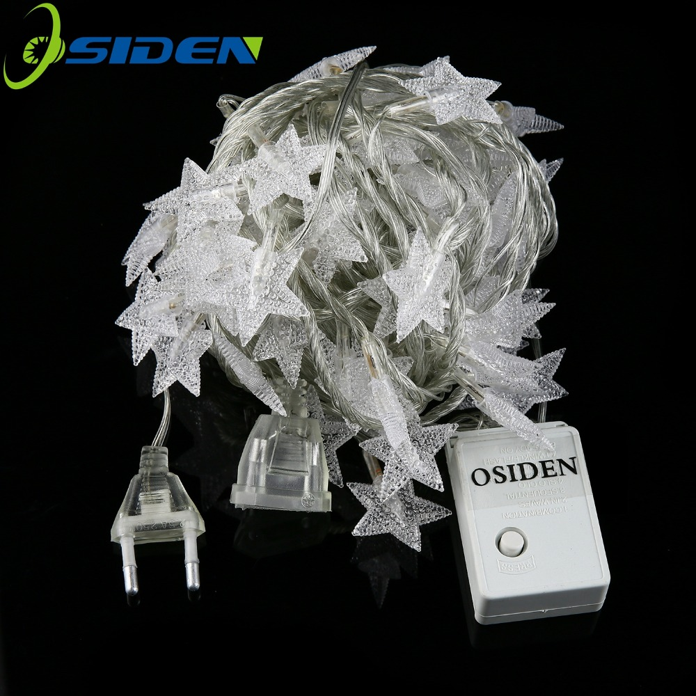 OSIDEN LED Star Fairy String Light <font><b>10M</b></font> <font><b>100Led</b></font> <font><b>220V</b></font> 110V For Wedding Decorations Christmas Tree Decorations Xmas lights Holiday image