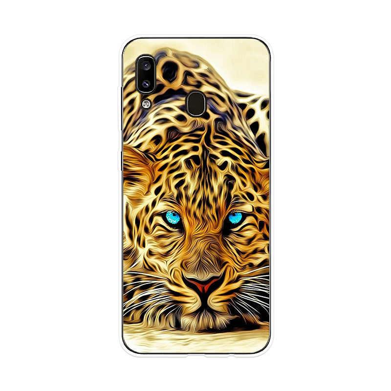 Téléphone étui pour Samsung Galaxy A10 A20 A20e A30 A40 A50 A60 A70 A80 A90 Couverture Tigre Lion Guépard pour Samsung M10 M20 M30 Cas