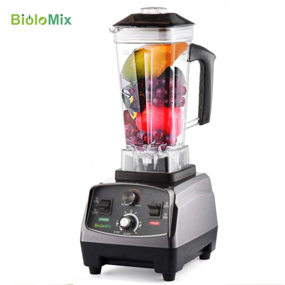 Heavy Duty automatyczny zegar Blender klasy handlowej mikser sokowirówka 3HP 2200W owoce żywności procesor lodu koktajle BPA za darmo 2L słoik w Blendery od AGD na  Grupa 1