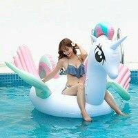 2017 Newest Summer Unicorn Swimming Float Inflatable Flamingo Swimming Float Unicorn Pool Float Tube Raft Kid Summer Water Toy