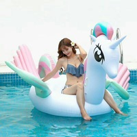 2017 Newest Summer Unicorn Swimming Float Inflatable Flamingo Swimming Float Unicorn Pool Float Tube Raft Kid Summer Water Toy