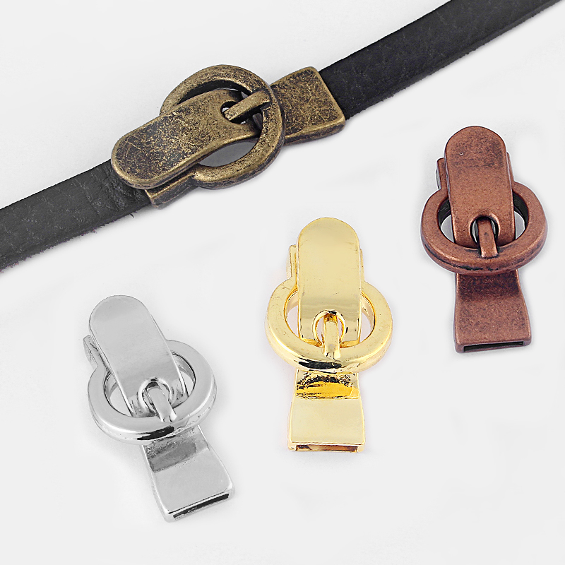 5pcs Buckle Hasp Magnetic Clasp Fit Two Strand 5*2mm Or 10*2mm Flat Leather Cord DIY Bracelet Jewelry Findings